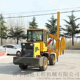 装载式公路护栏打桩机 钻孔打桩拔桩一体机波形护栏