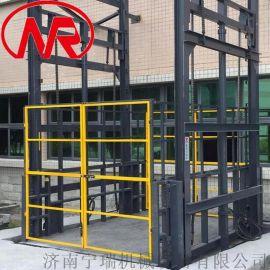 室外安装货物提升平台 固定导轨液压升降机