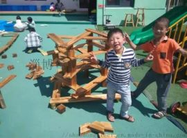幼儿园户外碳化积木 儿童木质积木玩具厂家