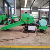 全自動玉米秸稈青儲打包機,青貯飼料打捆機