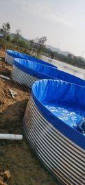 畅宏 镀锌板支架帆布 养殖水池 PVC刀刮布