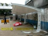 上海車篷膜結構車棚停車棚停車篷雨棚