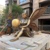 贺州楼盘小区欧式女神雕像景观玻璃钢仿铜人物雕塑