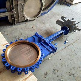 电动插板阀 圆形闸阀 手动电动一体刀闸阀200
