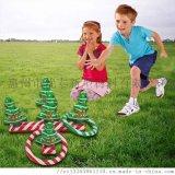 充氣聖誕樹投擲套圈耶誕節互動遊戲道具充氣套圈