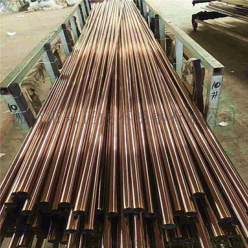 佛山黑钛不锈钢方管定制 不锈钢钛金管