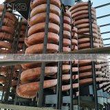 塑料螺旋溜槽 玻璃鋼洗煤溜槽 江西重選設備