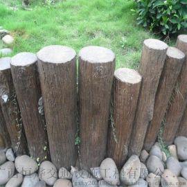 广西水泥仿木桩厂家 园林仿木桩 混凝土河道桩