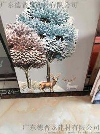 商业空间彩绘铝单板,UV打印彩绘铝扣板吊顶