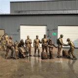 廠家直銷玻璃鋼人物雕塑,革命戰士英雄雕像