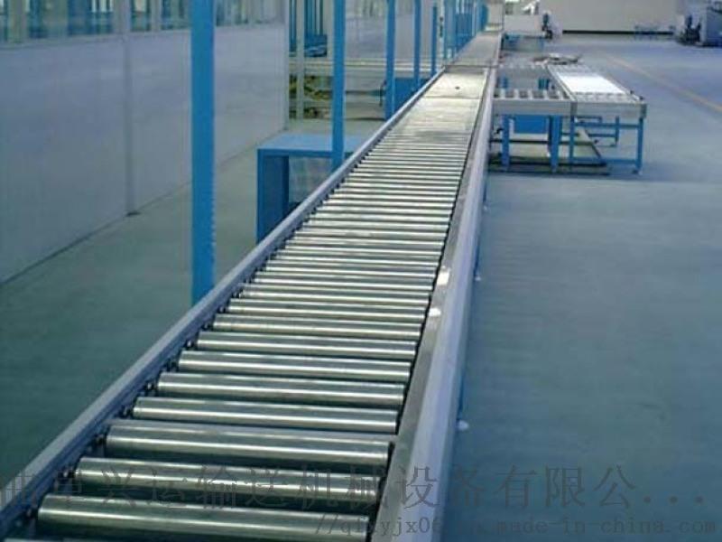 自动化流水线 水平滚筒运输机 六九重工单链轮滚筒输