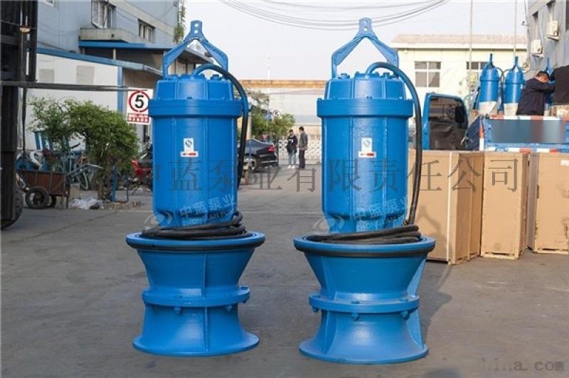 潜水轴流泵悬吊式350QZ-50不锈钢定制