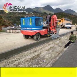 北京路沿石摊铺机滑膜机施工视频