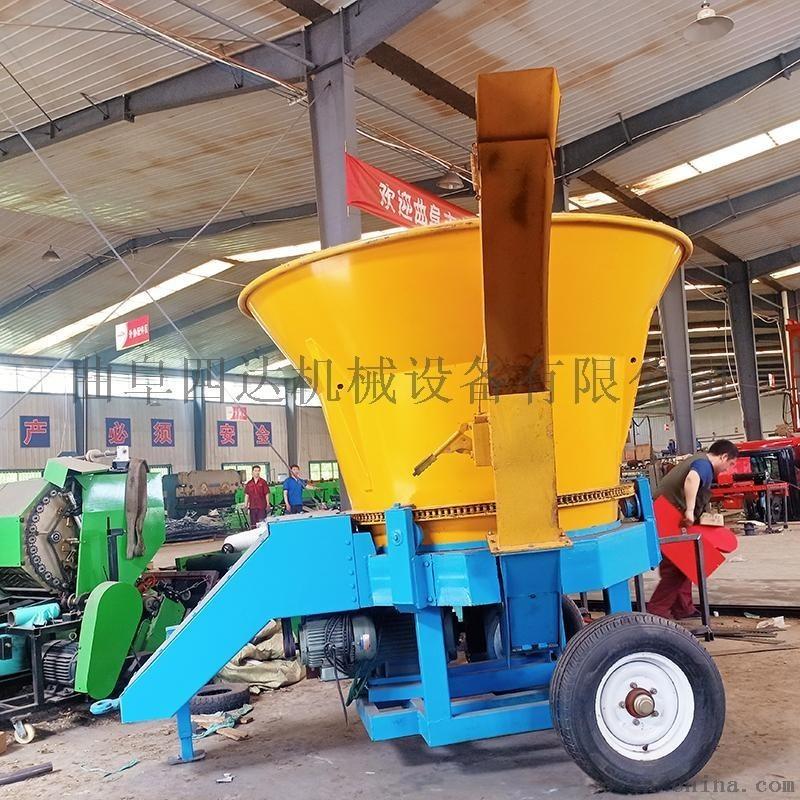 圆盘式草捆粉碎机 粉碎机生产厂家 大型秸秆旋切机