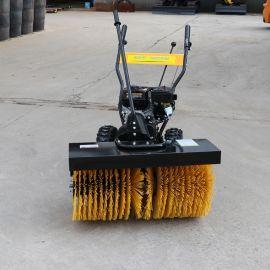 捷克 小型滾刷掃雪車 物業燃油掃雪機清雪車