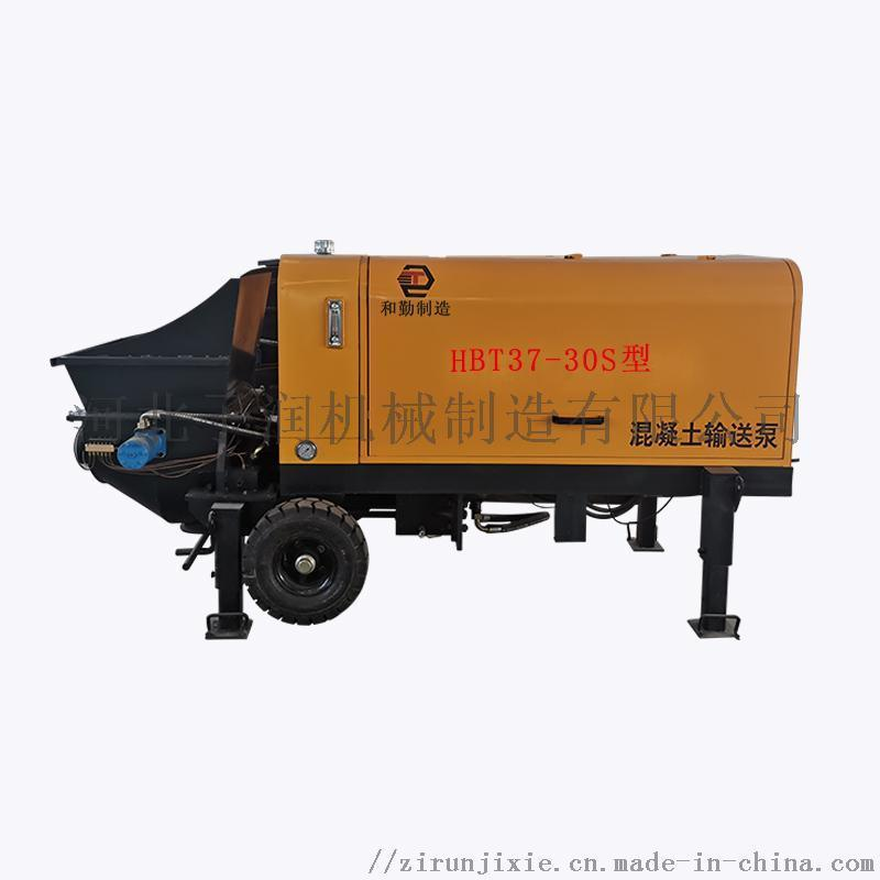 柴油机混凝土输送泵,小型二次构造柱泵上料机