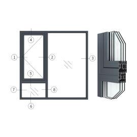 广东兴发铝材创高AL60W18A系列外平开窗