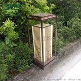 戶外公園立柱燈亞克力鍍銅草坪燈居民區庭院落地燈