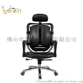 简约电脑椅pu真皮老板椅护腰护颈人体工学办公转椅