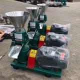 养殖场全套饲料加工设备, 双压轮草粉饲料颗粒机