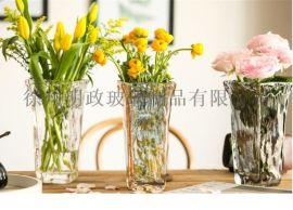 网红花瓶西班牙花瓶客厅花瓶玻璃花瓶七彩花瓶敞口花瓶