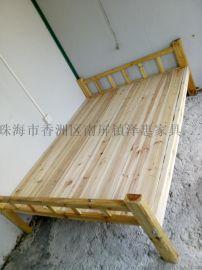 实木床 单人床 简易床 单层床