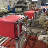 佛山收料機,帶靜電駐極器熔噴布後端接料分切收料機