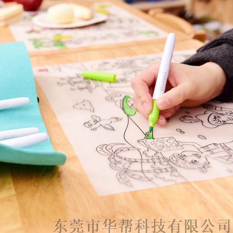 硅胶涂鸦餐垫 儿童餐垫 防滑隔热桌垫
