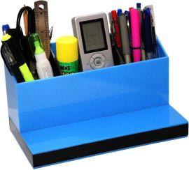 厂家定制透明亚克力桌面整理盒遥控器文具收纳盒