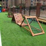 幼儿园木质儿童攀爬架景区儿童游乐设施