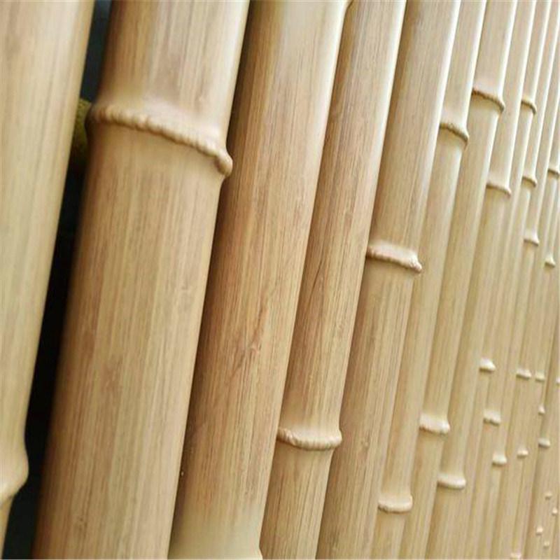 复古铝合金竹管定制 凹凸铝合金木纹竹管