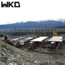 岩金矿重选摇床 开采选矿设备 6S玻璃钢摇床厂家
