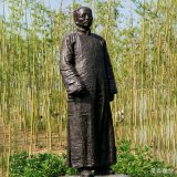 蔡元培人物銅雕教育家