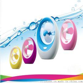 创意芒果迷你小电扇 时尚办公桌面USB手持风扇