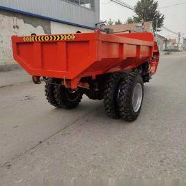 施工运输用自卸式三轮车/柴油载重电启动三马子