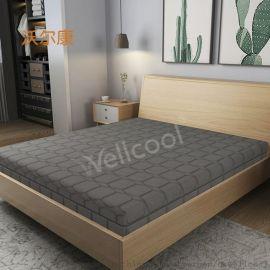 款灰色细水晶酒店床垫透气高弹3D床垫
