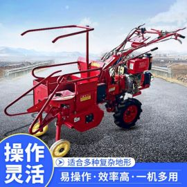 厂家直销小四轮玉米收割机自走式柴油玉米带扒皮收获机