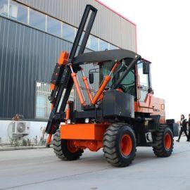 厂家直销护栏打桩机 防汛用路面钻孔机 波形打桩机