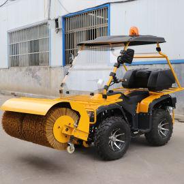 手推式双链条路面道路清雪机 驾驶式路面清雪机