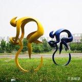 公園不鏽鋼抽象騎單車人物雕塑