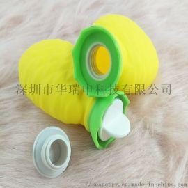 硅胶热水袋可爱时尚的菠萝硅胶暖手袋方便实用安全