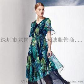 广州精品女装店迪如专柜品牌尾货折扣货源就找衣品天诚