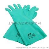 安思尔37-165丁腈手套 防化耐油防水橡胶手套