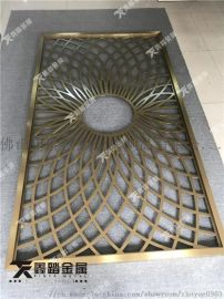 酒店别墅铝合金屏风隔断 铝板雕刻屏风花格