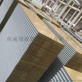 海安冲孔彩钢吸音板 岩棉夹芯消音板 手工岩棉隔墙板