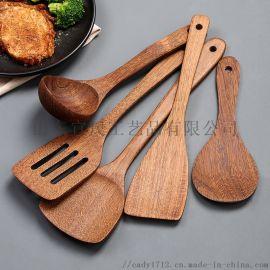 鸡翅木锅铲家用厨房不粘锅  木质厨具