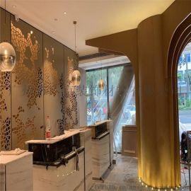 金色艺术造型冲孔铝板/幕墙装饰雕花铝单板
