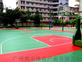丙烯酸篮球场施工建设-塑胶篮球场施工建设工程厂家