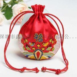 厂家专业生产绒布束口礼品袋