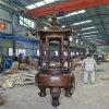 鑄造宗祠圓形六龍柱香爐廠家,鑄鐵長方形香爐工藝廠